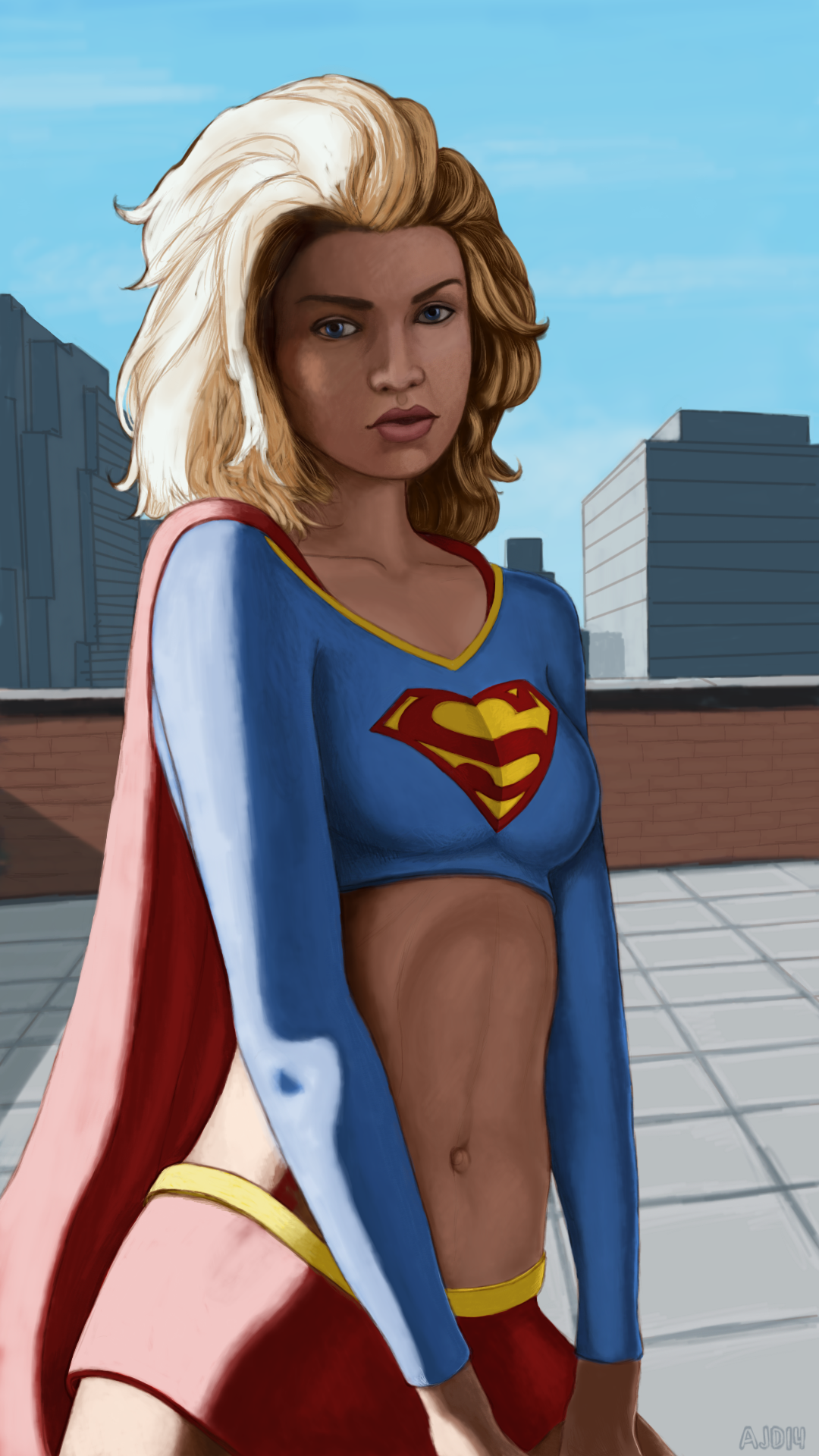Superdupont is a superhero based entirely on french stereotypes - I Felt That Supergirl Was A Little Flat So I Looked Into Developing A Way Of Making Paintings That Jump Out A Little Bit More Every Painting I Do